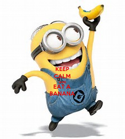 Poster: KEEP CALM AND EAT A BANANA