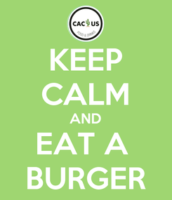 Poster: KEEP CALM AND EAT A  BURGER