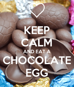 Poster: KEEP CALM AND EAT A CHOCOLATE EGG