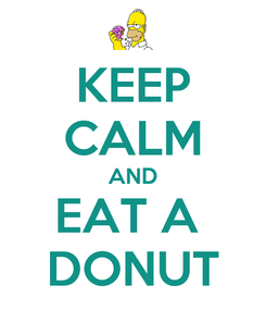 Poster: KEEP CALM AND EAT A  DONUT