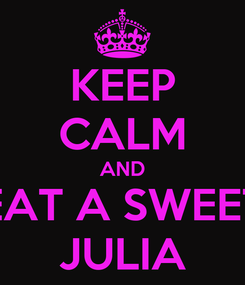 Poster: KEEP CALM AND EAT A SWEET JULIA