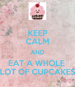 Poster: KEEP CALM AND EAT A WHOLE  LOT OF CUPCAKES