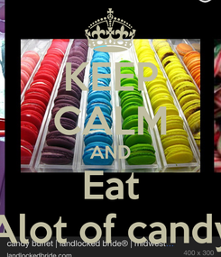 Poster: KEEP CALM AND Eat Alot of candy