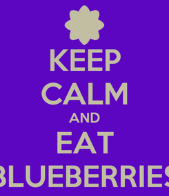 Poster: KEEP CALM AND EAT BLUEBERRIES