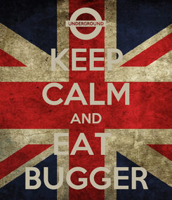 Poster: KEEP CALM AND EAT  BUGGER