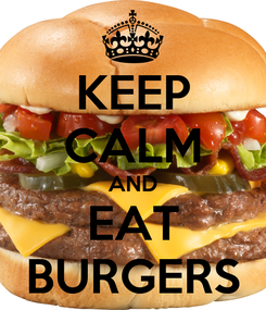 Poster: KEEP CALM AND EAT BURGERS