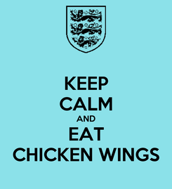 Poster: KEEP CALM AND EAT CHICKEN WINGS