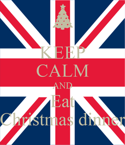 Poster: KEEP CALM AND Eat Christmas dinner