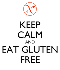 Poster: KEEP CALM AND EAT GLUTEN FREE