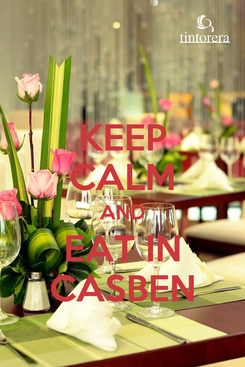 Poster: KEEP CALM AND EAT IN CASBEN