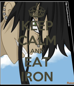 Poster: KEEP CALM AND EAT IRON