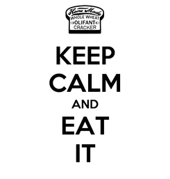 Poster: KEEP CALM AND EAT IT