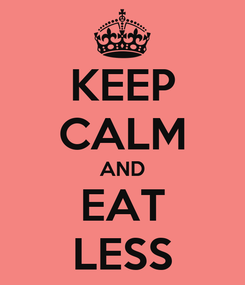 Poster: KEEP CALM AND EAT LESS