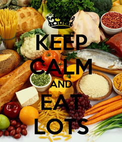 Poster: KEEP CALM AND EAT LOTS
