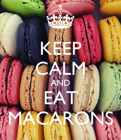 Poster: KEEP CALM AND EAT MACARONS
