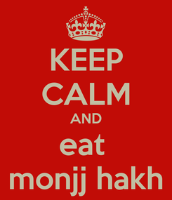 Poster: KEEP CALM AND eat  monjj hakh