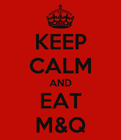 Poster: KEEP CALM AND EAT M&Q