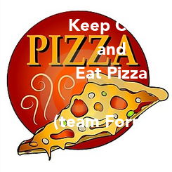 Poster: Keep Calm and Eat Pizza  (team Fornelli)
