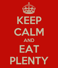 Poster: KEEP CALM AND EAT PLENTY