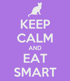 Poster: KEEP CALM AND EAT SMART