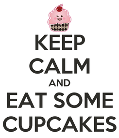 Poster: KEEP CALM AND EAT SOME CUPCAKES