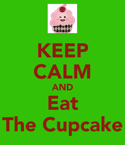 Poster: KEEP CALM AND Eat The Cupcake