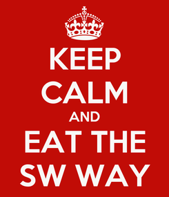 Poster: KEEP CALM AND EAT THE SW WAY