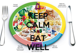 Poster: KEEP CALM AND EAT WELL