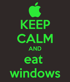 Poster: KEEP CALM AND eat  windows