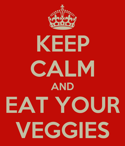 Poster: KEEP CALM AND EAT YOUR VEGGIES