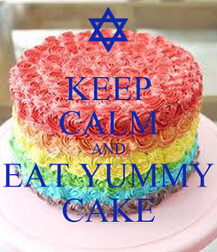 Poster: KEEP CALM AND EAT YUMMY CAKE