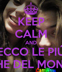 Poster: KEEP CALM AND ECCO LE PIÚ FIGHE DEL MONDO!