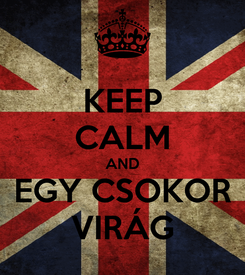 Poster: KEEP CALM AND EGY CSOKOR VIRÁG