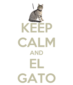 Poster: KEEP CALM AND EL GATO