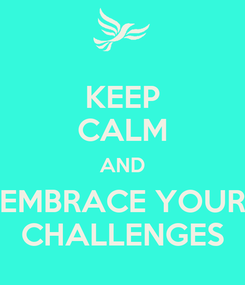 Poster: KEEP CALM AND EMBRACE YOUR CHALLENGES
