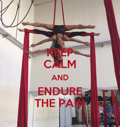 Poster: KEEP CALM AND ENDURE THE PAIN