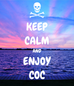 Poster: KEEP CALM AND ENJOY COC