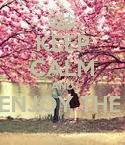 Poster: KEEP CALM AND ENJOY THE