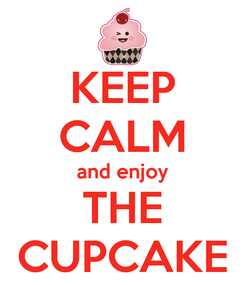 Poster: KEEP CALM and enjoy THE CUPCAKE