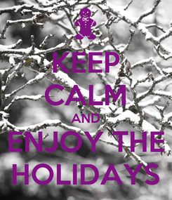 Poster: KEEP CALM AND ENJOY THE HOLIDAYS