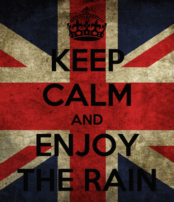 Poster: KEEP CALM AND ENJOY THE RAIN