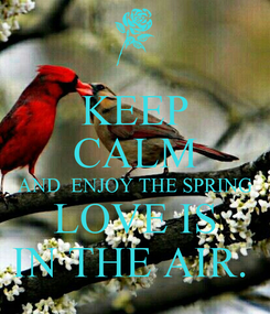 Poster: KEEP CALM AND  ENJOY THE SPRING LOVE IS IN THE AIR.