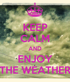 Poster: KEEP CALM AND ENJOY THE WEATHER