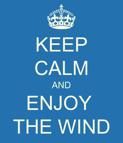 Poster: KEEP CALM AND ENJOY  THE WIND
