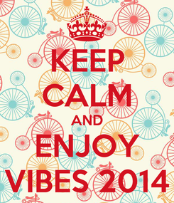 Poster: KEEP CALM AND ENJOY VIBES 2014