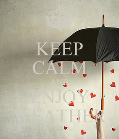 Poster: KEEP CALM AND ENJOY WEATHER