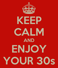 Poster: KEEP CALM AND ENJOY YOUR 30s