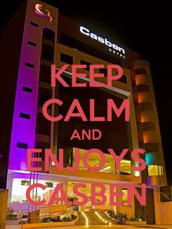 Poster: KEEP CALM AND ENJOYS CASBEN