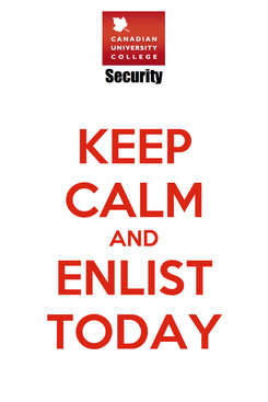 Poster: KEEP CALM AND ENLIST TODAY