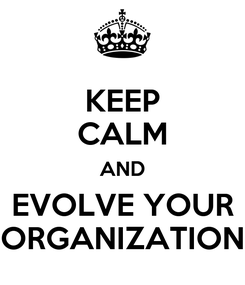 Poster: KEEP CALM AND EVOLVE YOUR ORGANIZATION